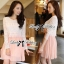 DR-LR-046 Lady Mina Smart Casual Lace and Pleated Dress thumbnail 5