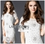 Lady Anna Classy Floral Studded Embellished Lace Dress L234-85C14 thumbnail 7