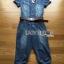Lady Alison Sporty Elegant Embellished Denim Pantsuit wit Belt L199-95C07 thumbnail 15