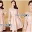 Lady Aliza Classic Vintage Plain Lace Dress with Belt L273-7909 thumbnail 17