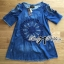 Lady Rose Embroidered Cut-Out Shoulder Denim Dress L193-79C07 thumbnail 9