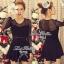 DR-LR-036 Lady Camilla Classy Luxurious Mini Dress (สีดำ) thumbnail 1