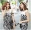 DS-PP-035 Lady Margaret Casual Chic Graphic Print Lace Jumpsuit thumbnail 4