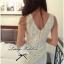 DC-PP-006 Lady Lolita Sweet Sexy White V-back Lace Dress thumbnail 4