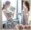 DR-LR-194 Lady Suzi Basic Chic Striped Mini Dress thumbnail 1