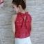 เสื้อลูกไม้งานสไตส์เกาหลีมีโบว์หลังน่ารักๆ thumbnail 5