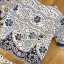 Lady Olivia Blue and White Flower Laser-Cut Cropped Top and Shorts Set L264-7904 thumbnail 14