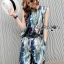 Lady Edith Tropical Printed Sleeveless Top and Pants Set L273-6918 thumbnail 9