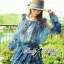 DR-LR-263 Lady Amanda Summer Floral Cut-Out Chiffon Dress thumbnail 9