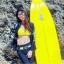 SM-V1-553 ชุดว่ายน้ำแขนยาวขายาว เซ็ต 4 ชิ้น สีดำตัดขอบลายเหลืองสวยๆ yellow-black soldier thumbnail 13