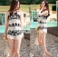 Lady Helena Black and White Lace Cropped Top and Shorts L271-6910 thumbnail 9