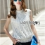 Lady Anna Classic Vintage High-Neck Lace Blouse L266-6914 thumbnail 2