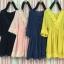 Dress คอวี เนื้อผ้าชีฟอง เนื้อดีค่ะ เนื้อนิ่ม เป้น dress คอวี thumbnail 3