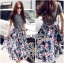 Lady Liz Lace Jumper and Floral Printed Midi Skirt Set L200-89C11 thumbnail 7