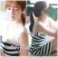 DR-LR-194 Lady Suzi Basic Chic Striped Mini Dress thumbnail 5
