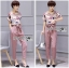 Lady Jennifer Floral Printed Top and Pink Ribbon Pants Set L260-7906 thumbnail 7
