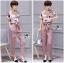 Lady Jennifer Floral Printed Top and Pink Ribbon Pants Set L260-7906 thumbnail 7