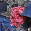 Lady Marissa Sweet Country Red Roses Embroidered Organza and Denim Shirt Dress with Belt L212-85C01 thumbnail 10