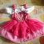 เดรสเจ้าหญิงนิทรา สีชมพูสวย การตัดเย็บดีค่ะ ไซส์ 110,120,130 thumbnail 5