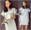 Lady Jill Geometry Flared-Sleeved Brocade Denim Dress L193-69C05 thumbnail 6