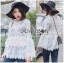 Lady Ashley Sweet Classic Lace Peplum Top in White L261-6909 thumbnail 6