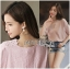 Lady Sophie Sweet Feminine Laser-Cut and Embroidered Top L265-6521 thumbnail 13