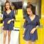 Dress คอวี เนื้อผ้าชีฟอง เนื้อดีค่ะ เนื้อนิ่ม เป้น dress คอวี thumbnail 2