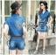 Lady Cindy Little Western Cowboy Denim Shirt and Shorts Set with Belt L262-8507 thumbnail 6