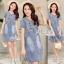Korean denim embroidered Vintage dress by Aris Code thumbnail 1