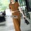 Lady Lyla Modern Minimal Chic Lacy Camel Jumpsuit L258-7905 thumbnail 7