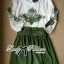 DR-LR-264 Lady Joanne Sweet Vintage Embroidered Olive Green Dress thumbnail 12