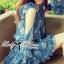 DR-LR-263 Lady Amanda Summer Floral Cut-Out Chiffon Dress thumbnail 6