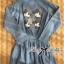 DR-LR-269 Lady Samantha Mickey Mouse Print Ribbon Denim Shirt Dress thumbnail 8