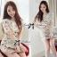 DR-LR-212 Lady Vivid Floral Lace Mini dress, Partysu Korea thumbnail 1
