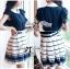 DR-LR-209 Lady Claire Mixed Print Sleeveless Insert Chiffon Shirt Dress thumbnail 9