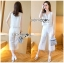 Lady Cara Holiday Casual White Lace Cropped Top and Culottes Set L253-75C22 thumbnail 10