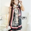 DKNY Print Dress with Scarf, DKNY Rtw Pre-fall Collection L203-65C04 thumbnail 2
