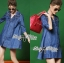 DR-LR-158 Lady Rosalie Smart Chic Embroidered Denim Shirt Dress thumbnail 7