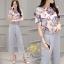 Daisy Green floral fabric blugrish set thumbnail 9
