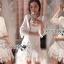 Lady Eva Classic White Polyester and Lace Ruffle Dress L250-79B02 thumbnail 5