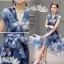 Korea Cocktail Dresses blue floral print by Aris Code thumbnail 11
