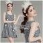 Lady Jennifer Summery Pretty Daisy Embroidered Plaid Dress L265-6901 thumbnail 5