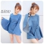 Bell Sleeve Denim MiniDress by ChiCha's C185-58A21