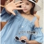 Lady Victoria Casual Chic Off-Shoulder Soft Denim Dress L264-6922 thumbnail 10