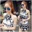 DS-PP-039 Lady Ashley Printed Playsuit in Black and White thumbnail 1
