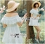 Lady Chloe Feminine Off-Shoulder Cotton and Lace Dress L188-75C08 thumbnail 8