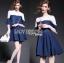 Lady Julia Feminine Ballet Lace and Denim Dress L207-79C02 thumbnail 4