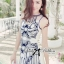 DR-LR-136 Lady Paula Glamorous Chic Italian Print Dress thumbnail 6