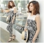 DS-PP-035 Lady Margaret Casual Chic Graphic Print Lace Jumpsuit thumbnail 11