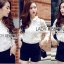 Lady Blaire Floral Embroidered Lace Shirt in White L274-7509 thumbnail 4